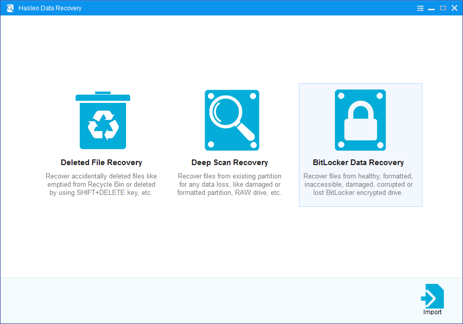 select bitlocker data recovery mode